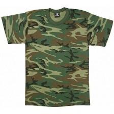 Army T-shirt børn kort ærmet