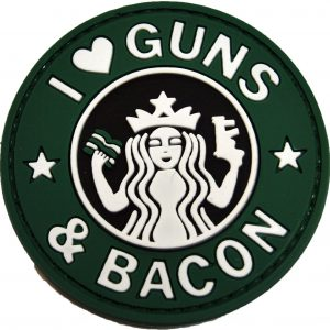 patch i love guns and bacon