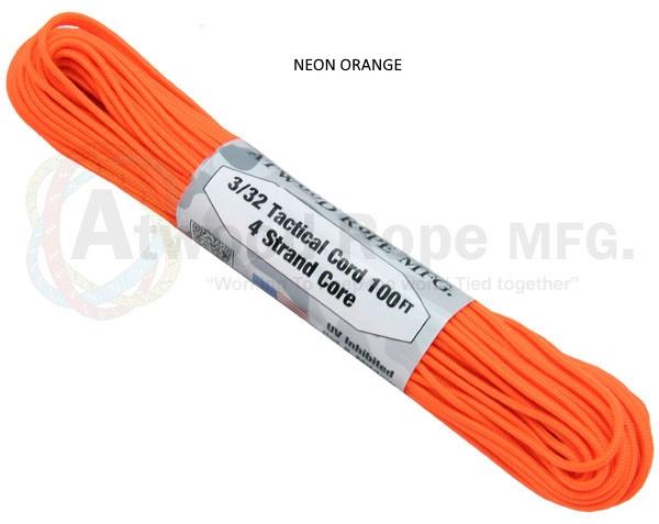 FALDSKÆRMSLINE - PARACORD neon orange