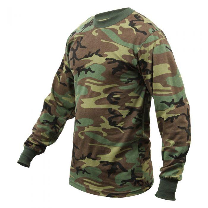 camouflage trøje t-shirt