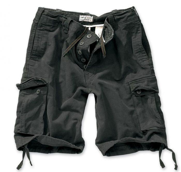 sorte shorts bomuld