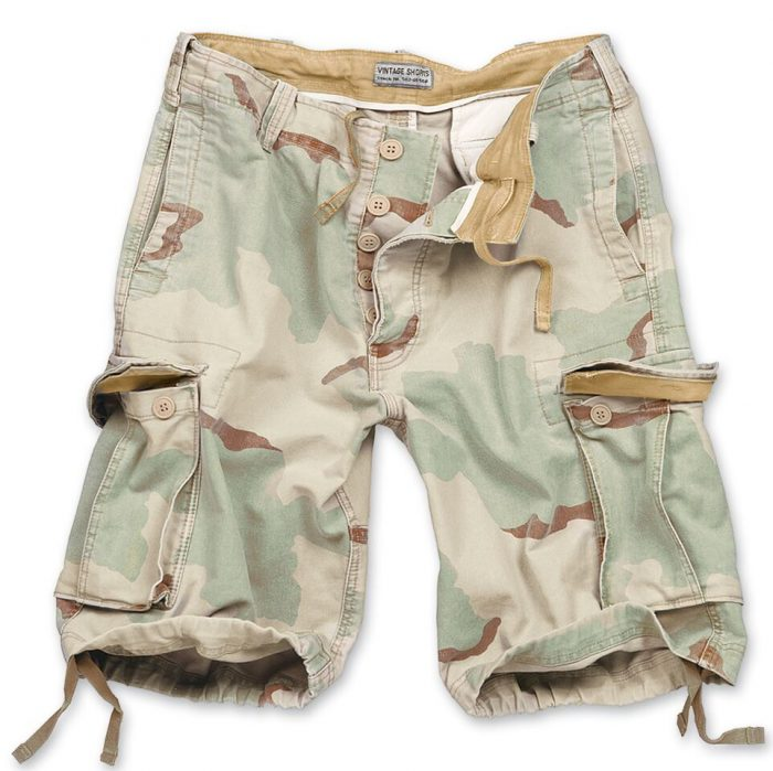 camouflage shorts army vintage