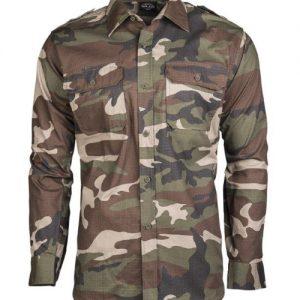 camouflage skjorte med skulderstropper