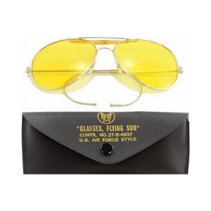 aviator brille gul