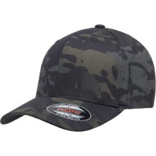 kasket i sort camouflage flexfit black multicam