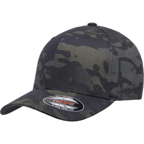kasket i sort camouflage flexfit black multicam