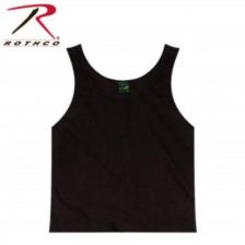 strop t-shirt tank top sort