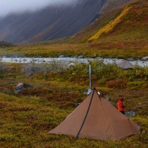 ovn til telt i titanium