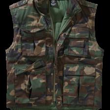 camouflage vest, vatteret vest med gode lommer