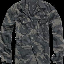 skjorte i camouflage sort
