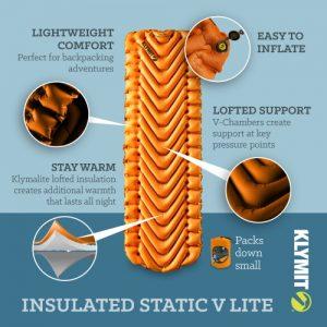 KLYMIT Insulated Static V Lite liggeunderlag