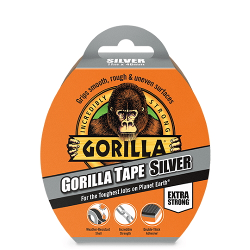 gorilla tape sølv