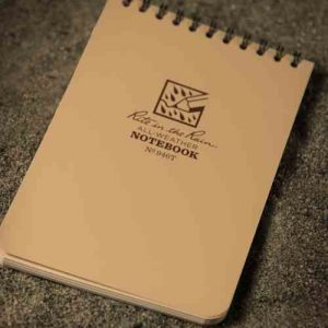 all weather notebook vandskyende papir