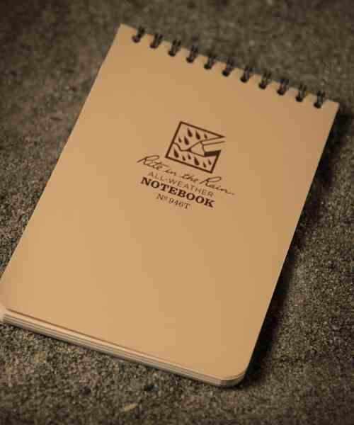 all weather notebook vandskyende papir