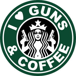 patch i love guns and coffee